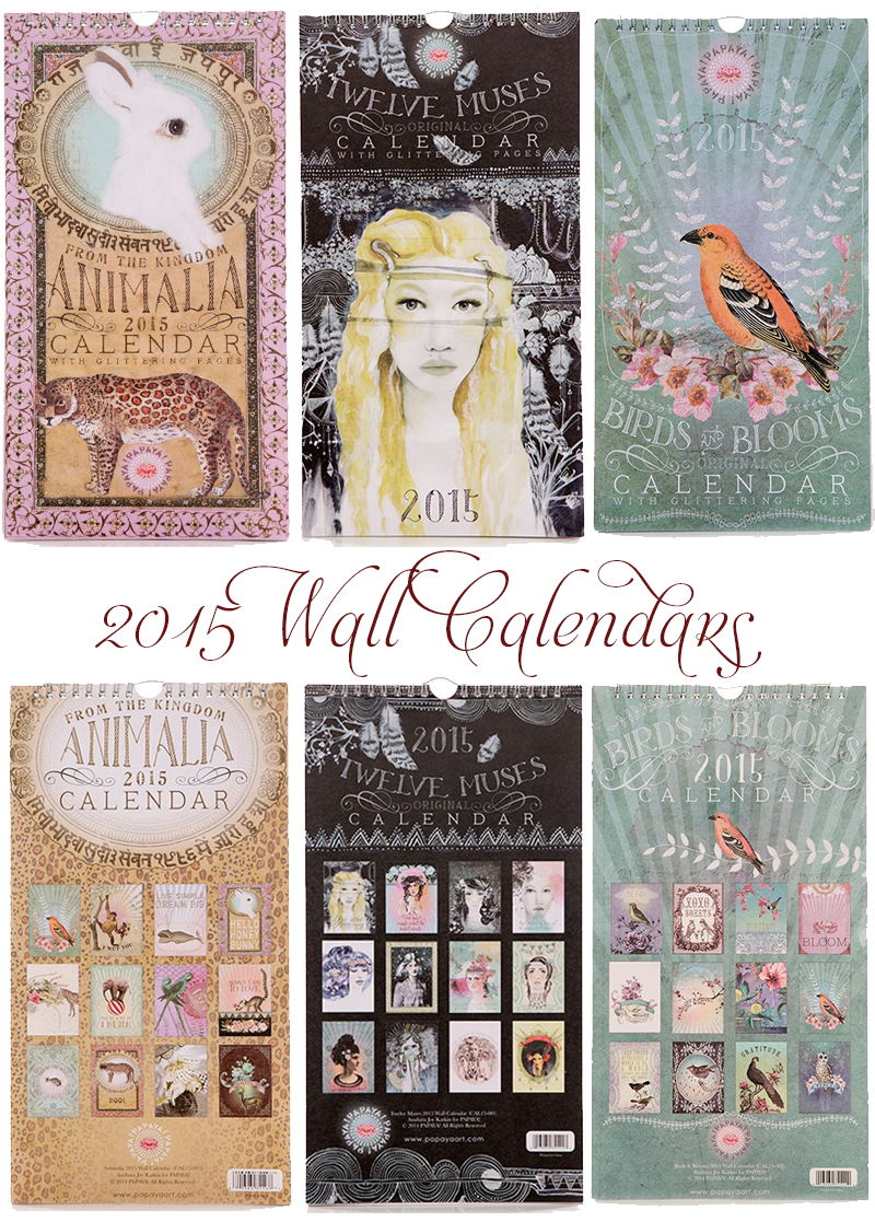 2015 wall calendars by papaya