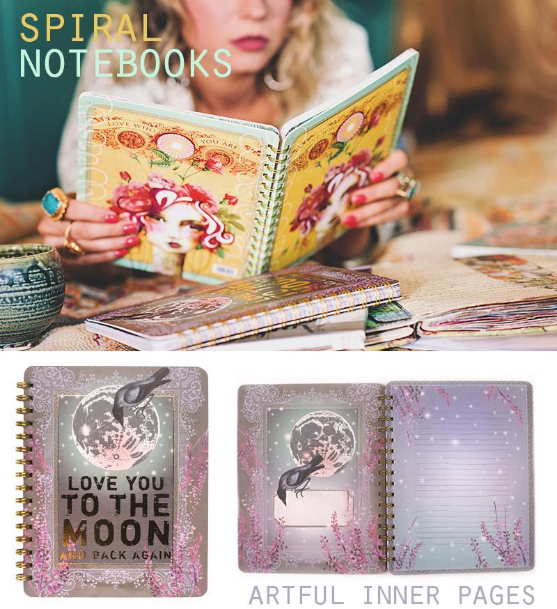 Spiral notebooks by papaya copy