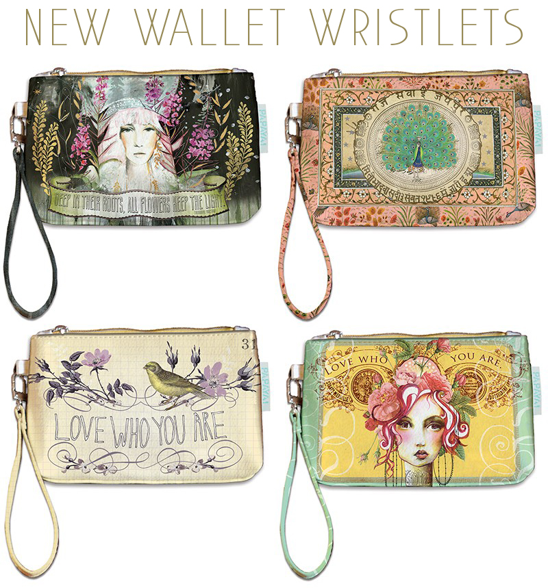 Papaya wallet wristlets- new