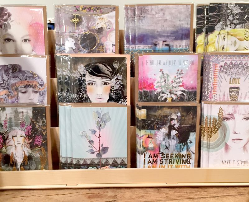 Hand painted greeting cards by PAPAYA